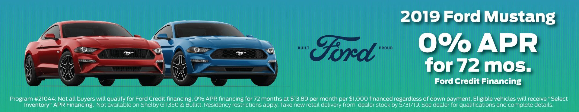 2019 Mustang Incentive 5-31-2019