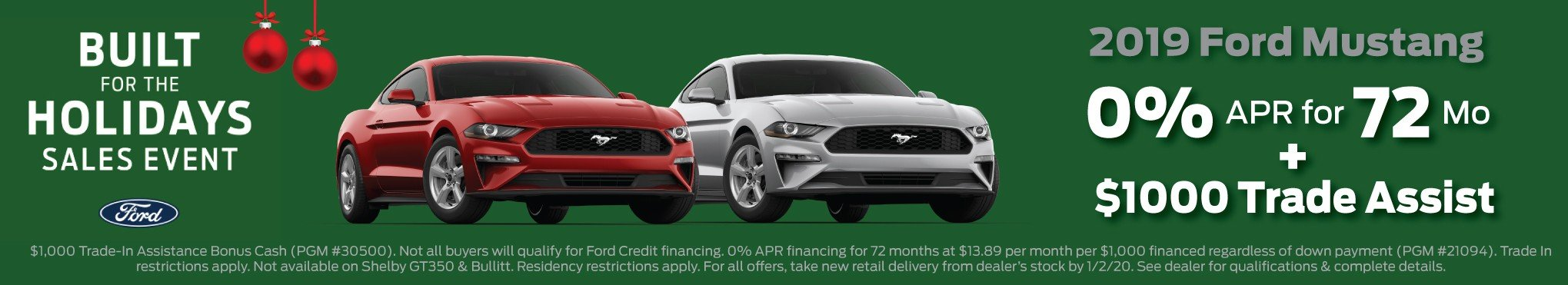 2019 Mustang Incentive 12-25-2019