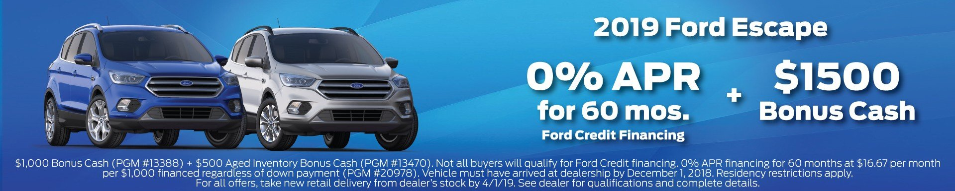 2019 Ford Escape Offer 3-2019