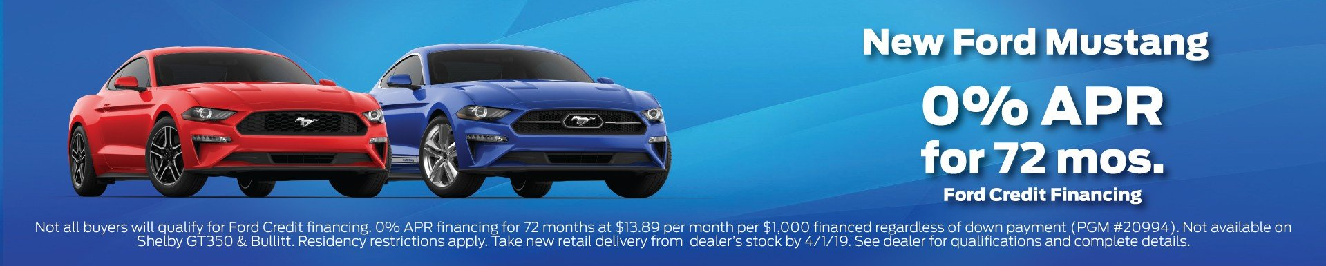 New Ford Mustang Finance Offer 3-2019