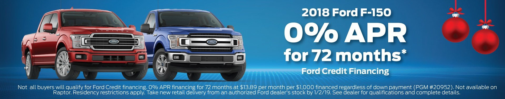 Ford F150 Finance Offer