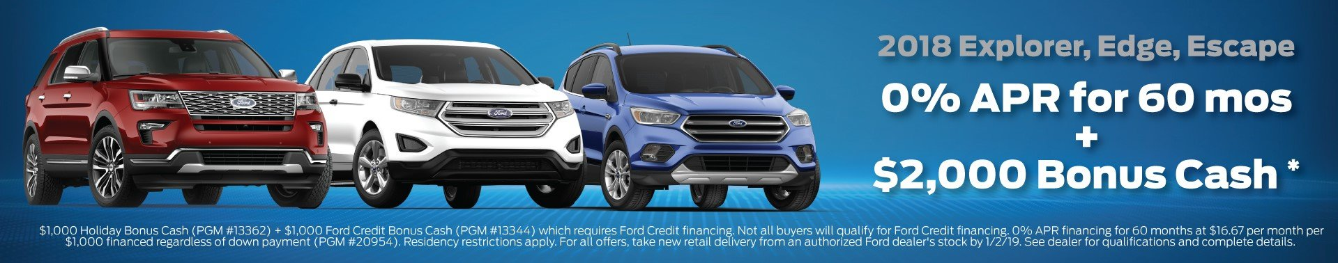 Ford Explorer Ford Escape Ford Edge Offers 12-2018