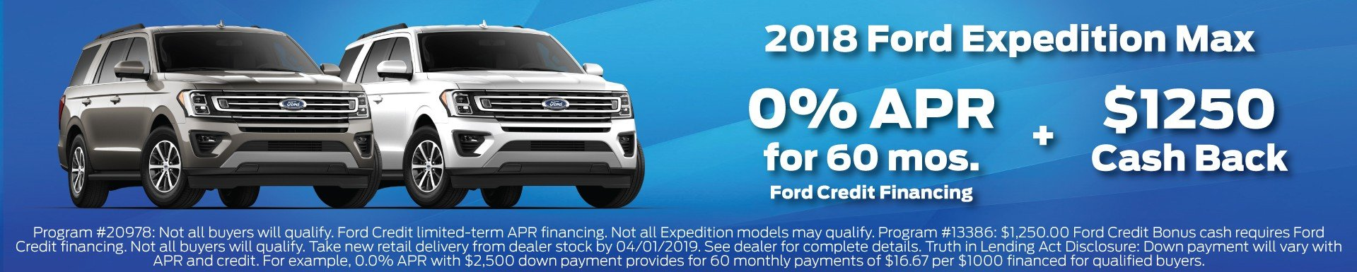 2018 Ford Expedition Offer 3-2019