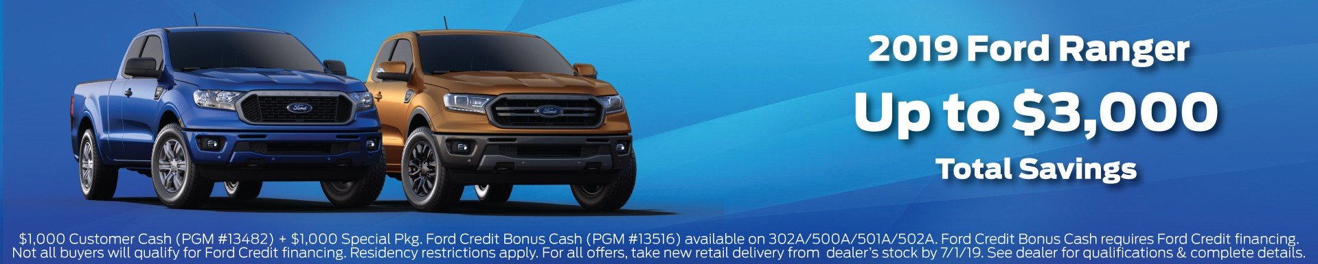 Ford Ranger Incentive 7-1-2019