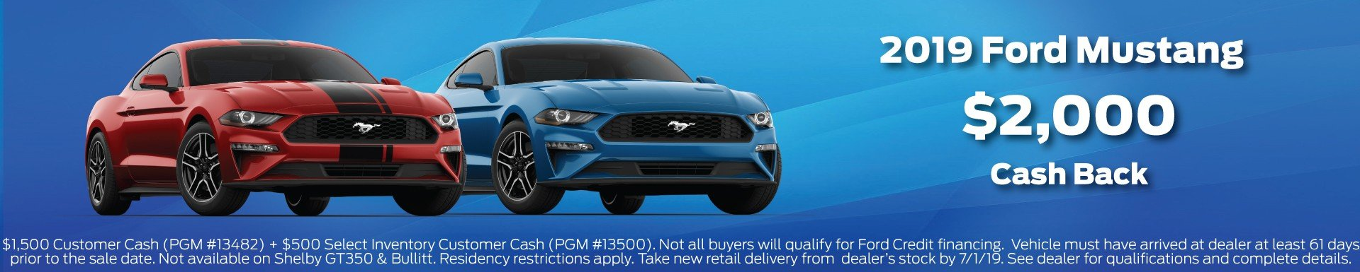 2019 Mustang Incentive 7-1-2019