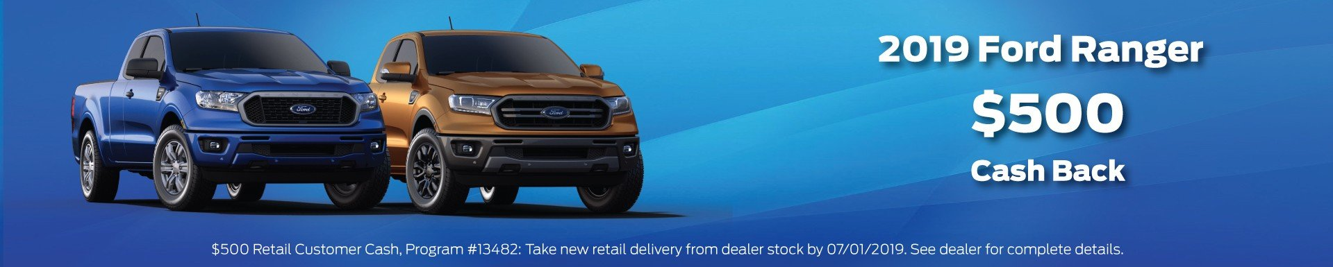 2019 Ford Ranger Offer 7-1-2019
