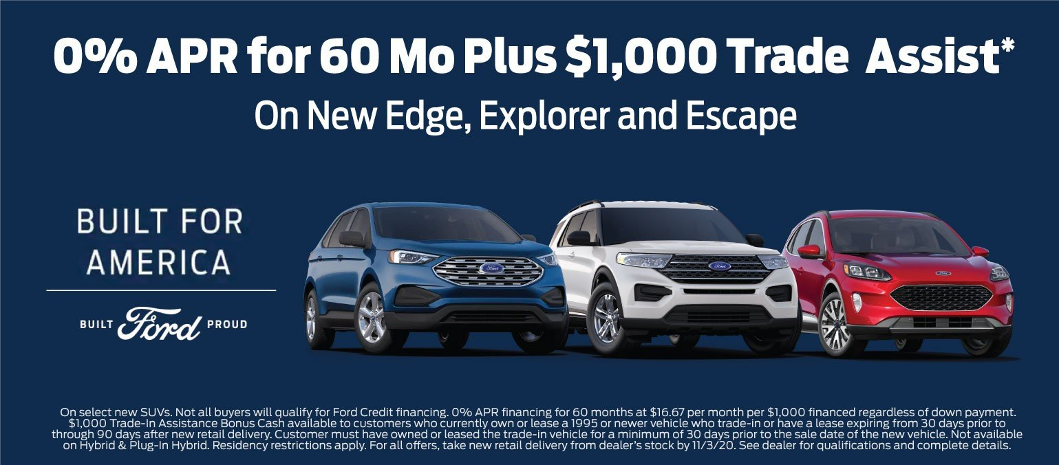 Ford 0% for 60 SUV Offer 11-3-2020