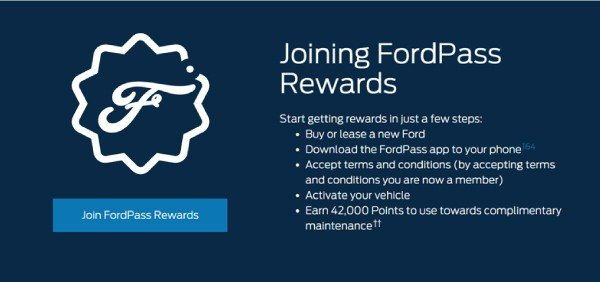 Ford Pass Rewards Program 2020
