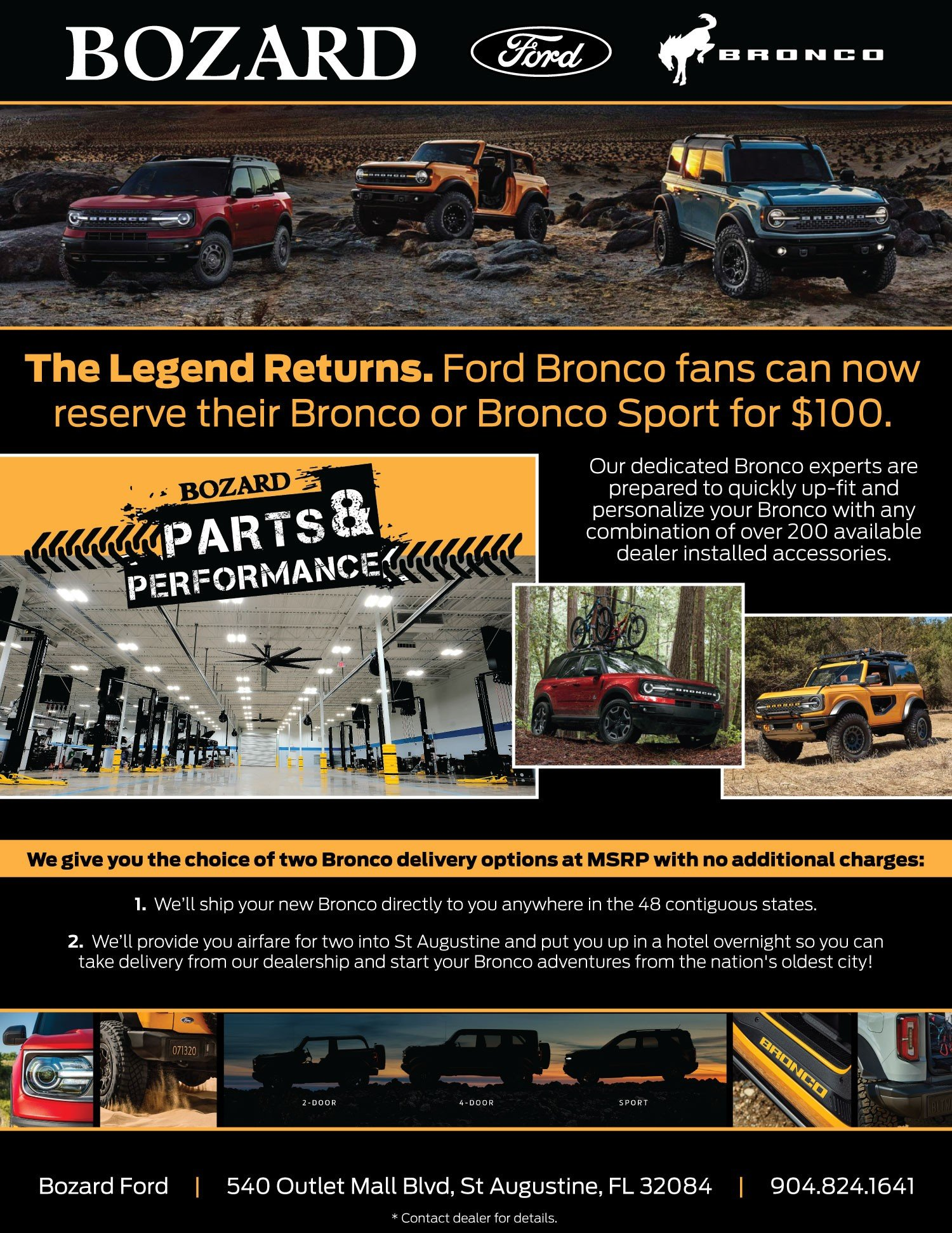 2021 Ford Bronco Reserve Now, We Deliver�