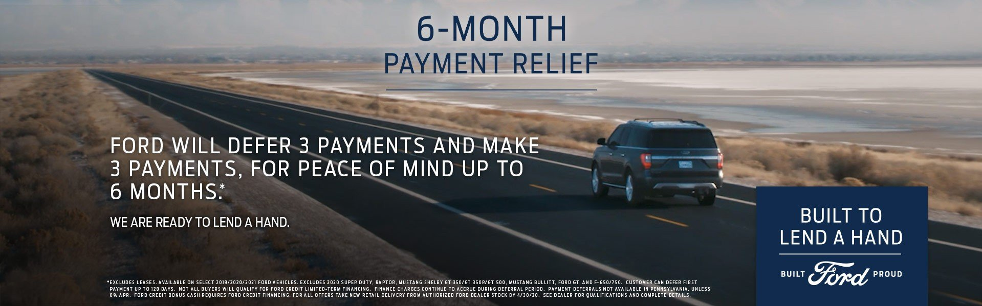 6 Months Payment Relief 4-30-2020