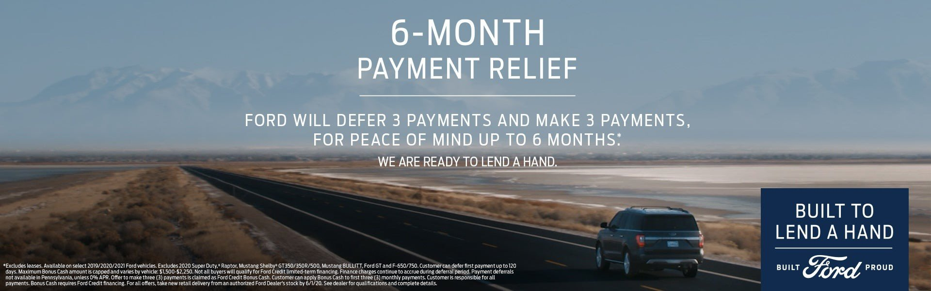 6 Months Payment Relief 6-2-2020
