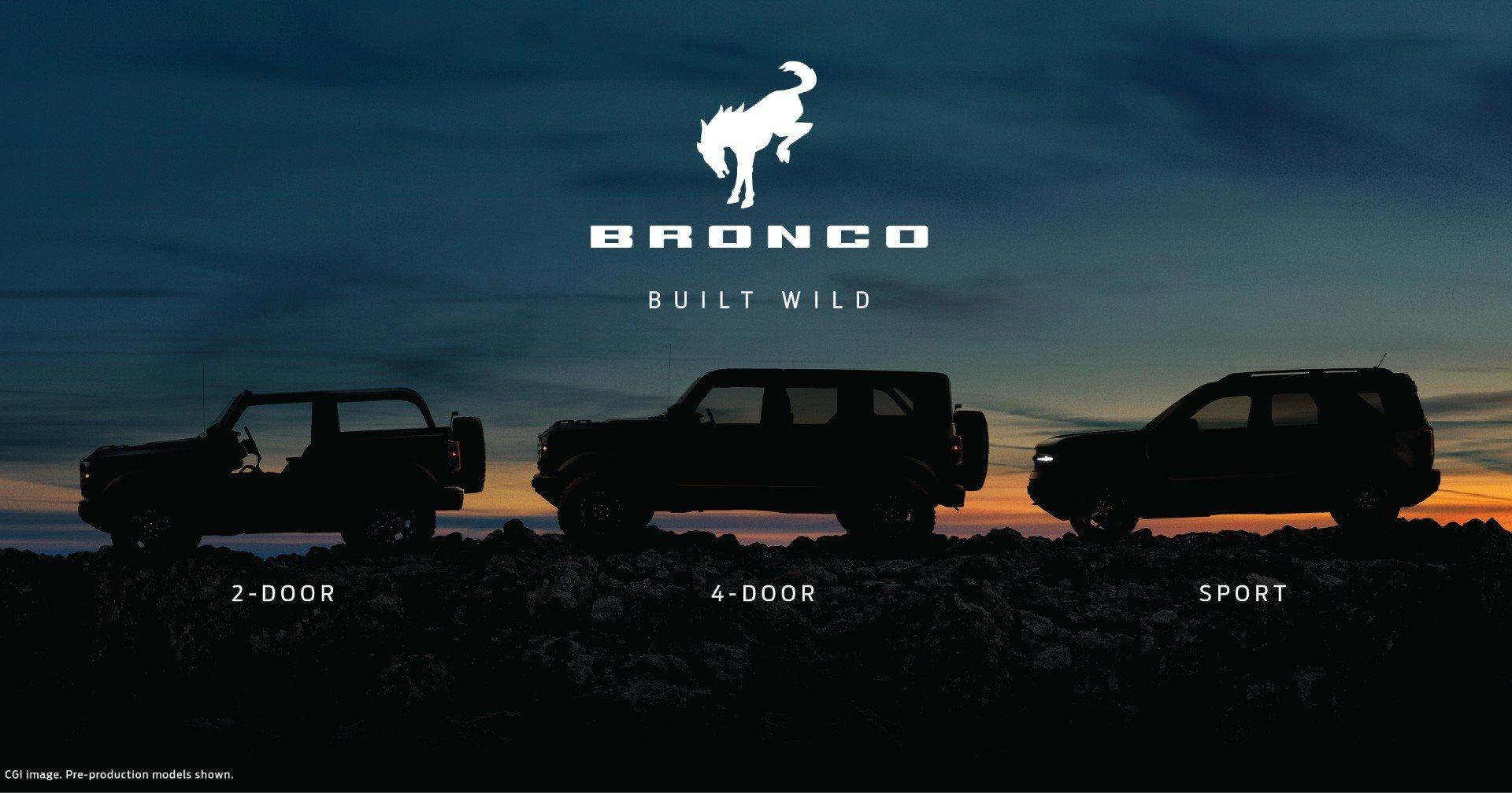 2021 Ford Bronco Lineup