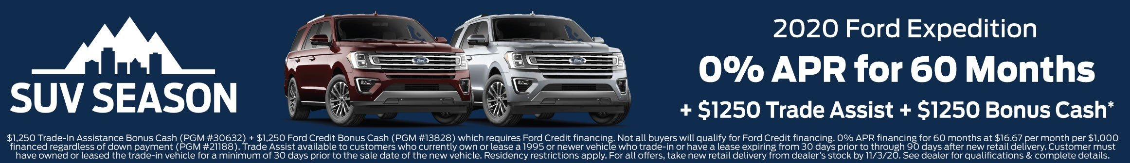 Ford Expedition Offer 11-3-2020