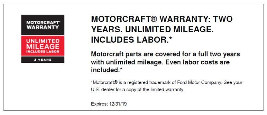 Motorcraft Warranty 2019