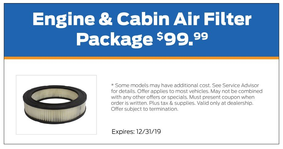 Air Filter Package Offer 12-2019