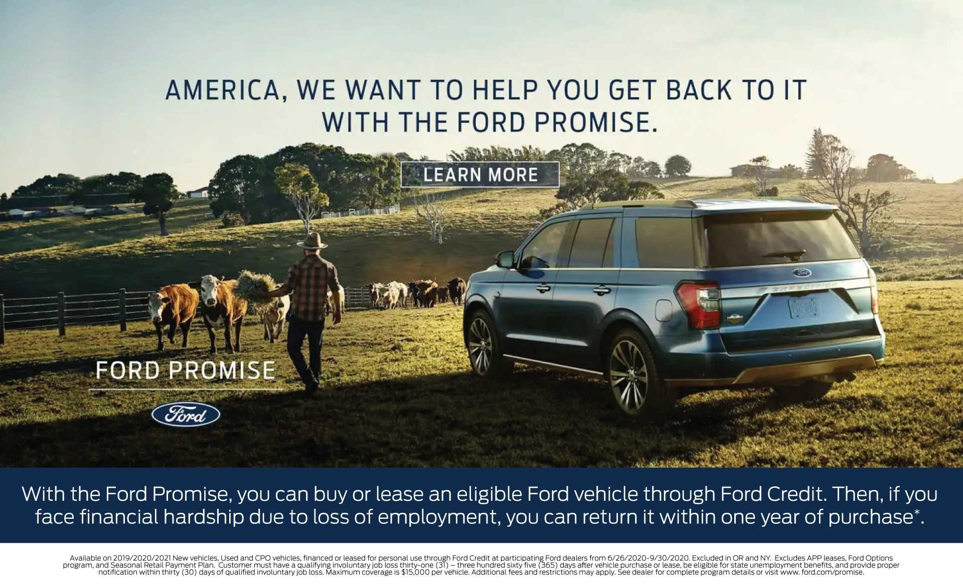 Ford Promise Expires 9-30-2020