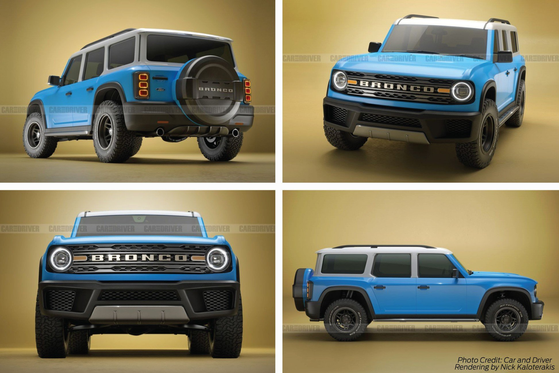 2021 Ford Bronco Rendering from Car and Driver