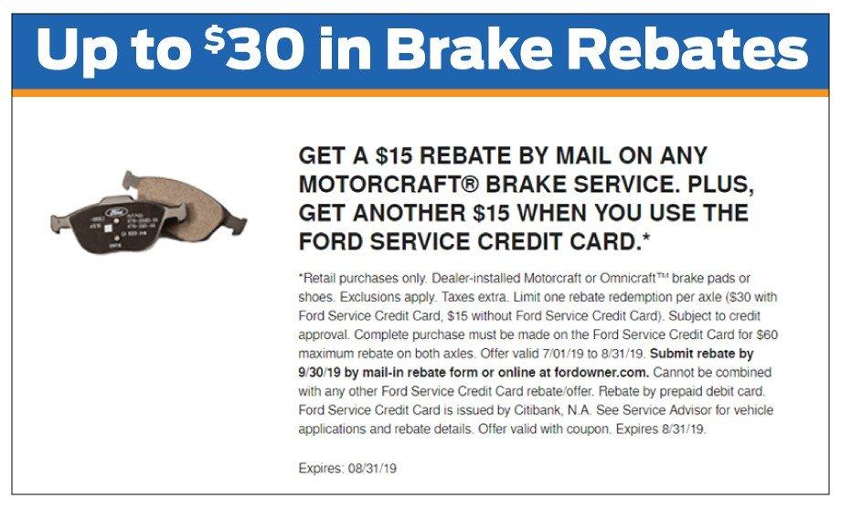 Brake Rebate 8-31-2019