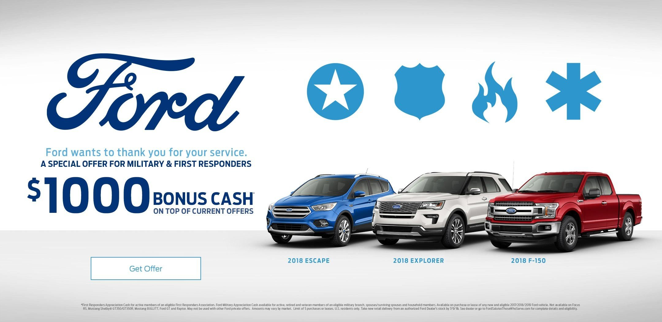 Ford military appreciation offer