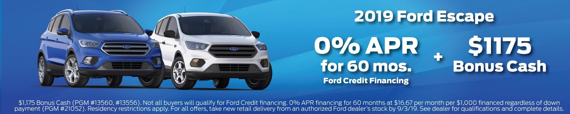2019 Ford Escape Offer 7-2019
