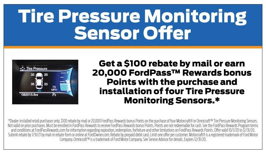 Tire Pressue Sensor Offer 12-31-2020
