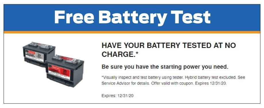Free Battery Test 12-2020