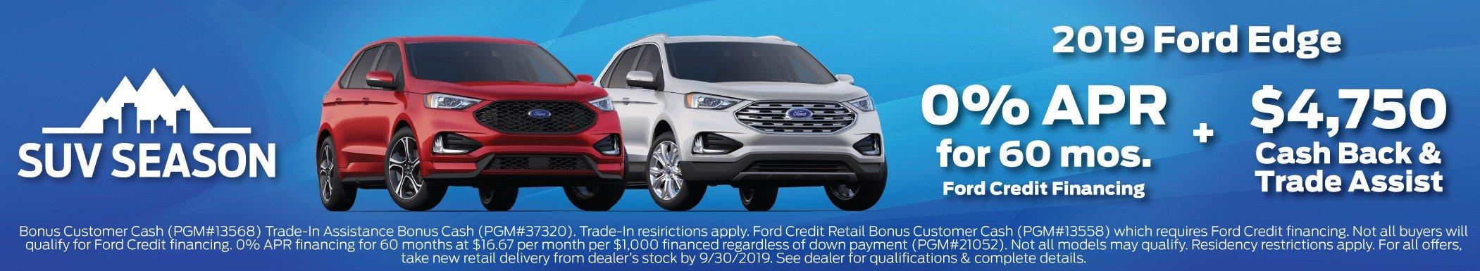 2019 Ford Edge Offer 9-30-2019