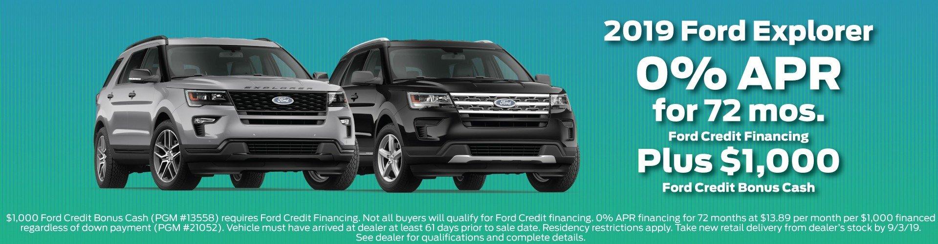 2019 Ford Explorer Offer 7-2019