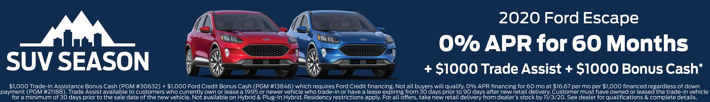 Ford Escape Offer 11-3-2020