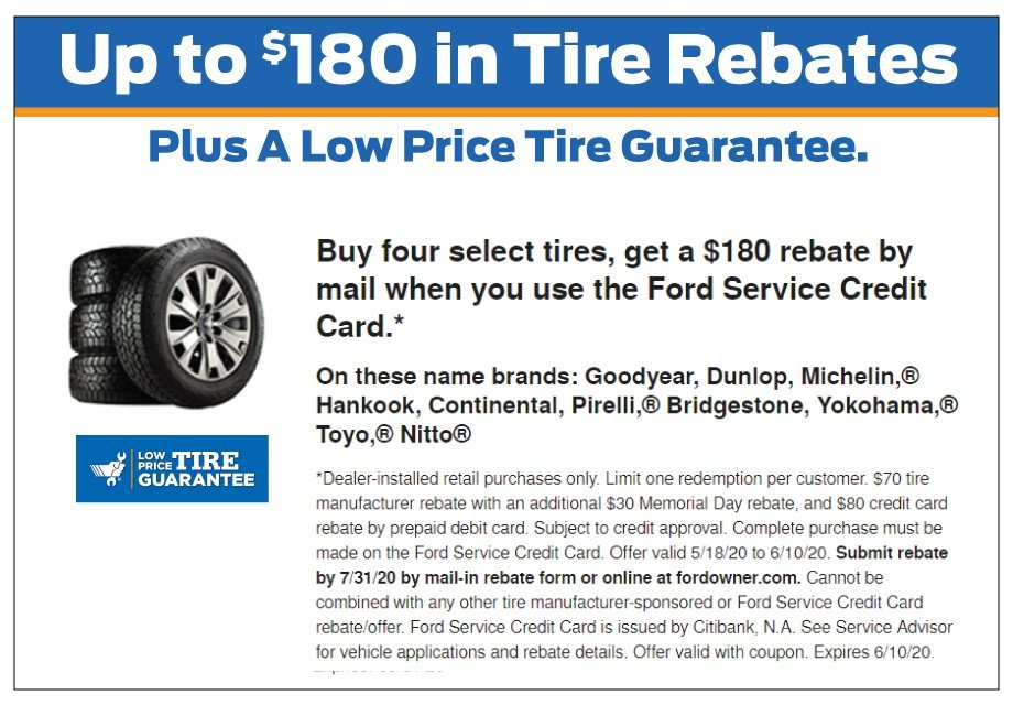 Credit Card Tire Rebate 6-10-2020
