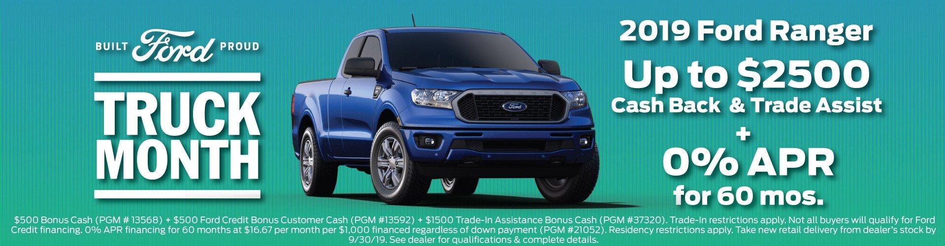 2019 Ford Ranger Offer 9-30-2019