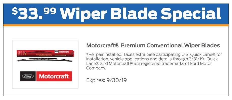 Wiper Blades Offer 9-2019