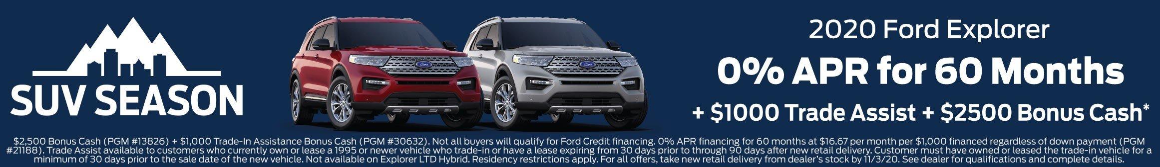 Ford Explorer Offer 11-3-2020