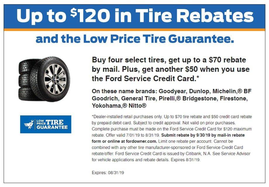 Tire Rebate 8-31-2019