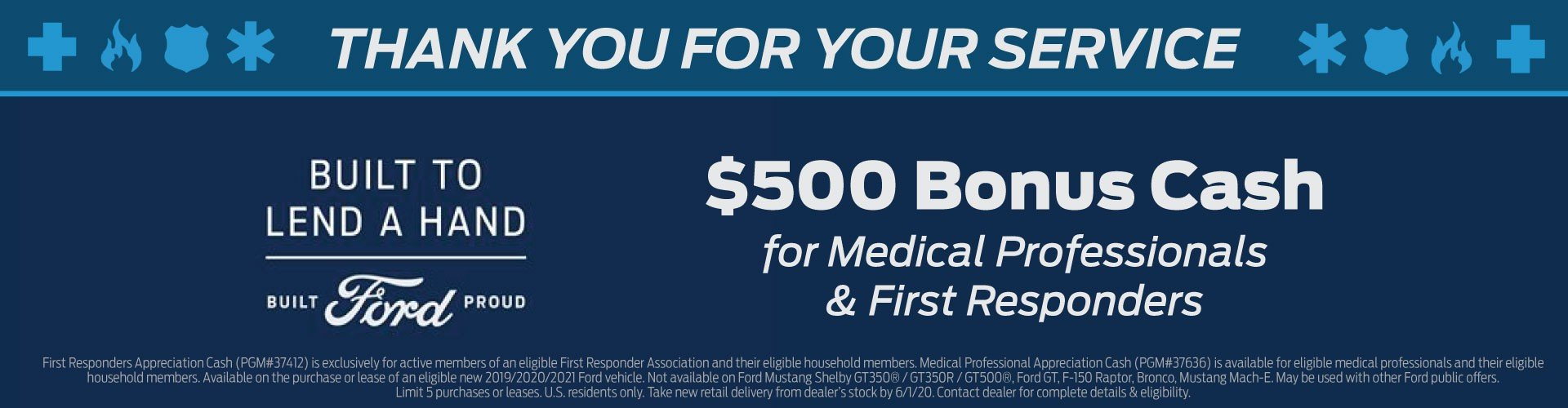 Medical Professional and First Responder Bonus Cash 6-1-2020