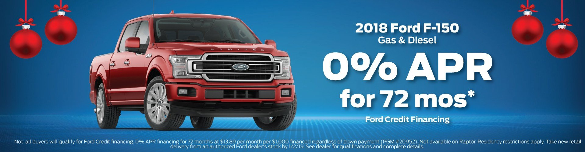 Ford f150 finance offer 12 2018