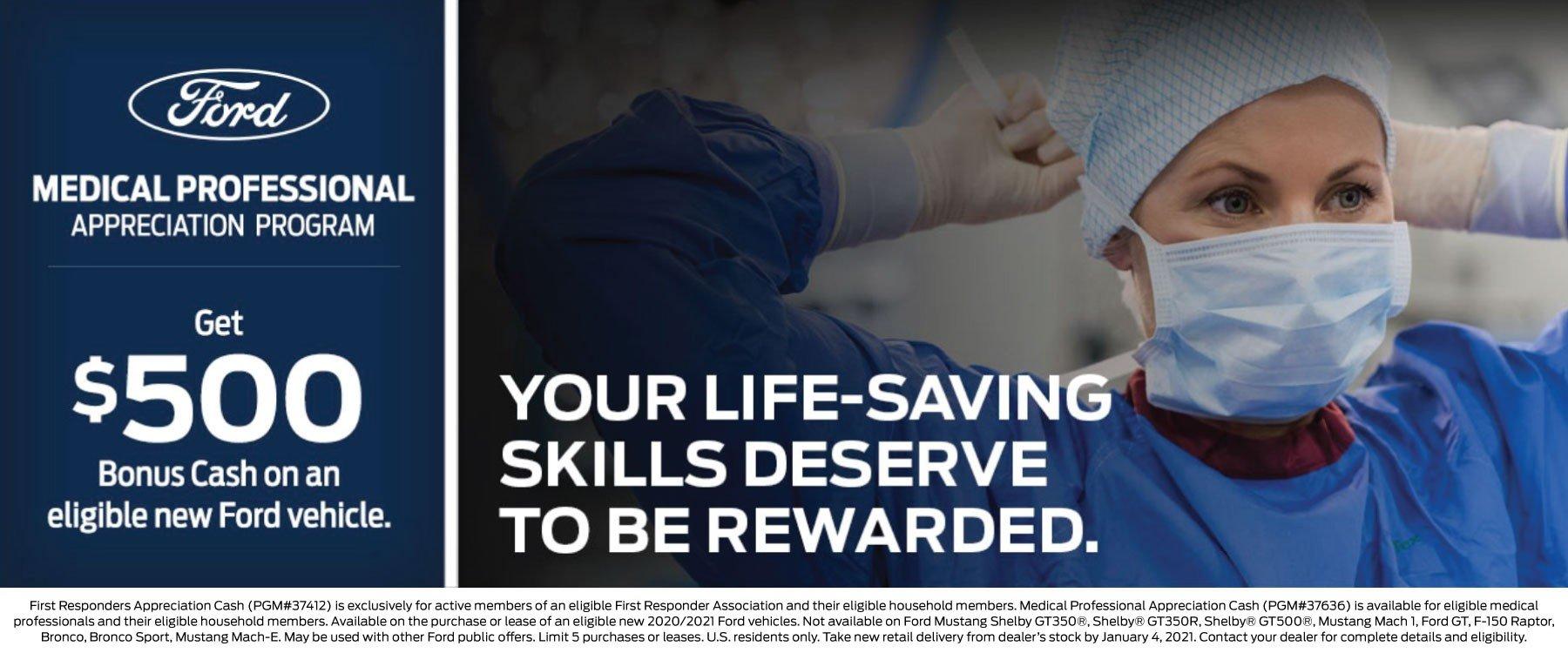 Medical Professionals Bonus Appreciation Cash Offer 1-4-2021