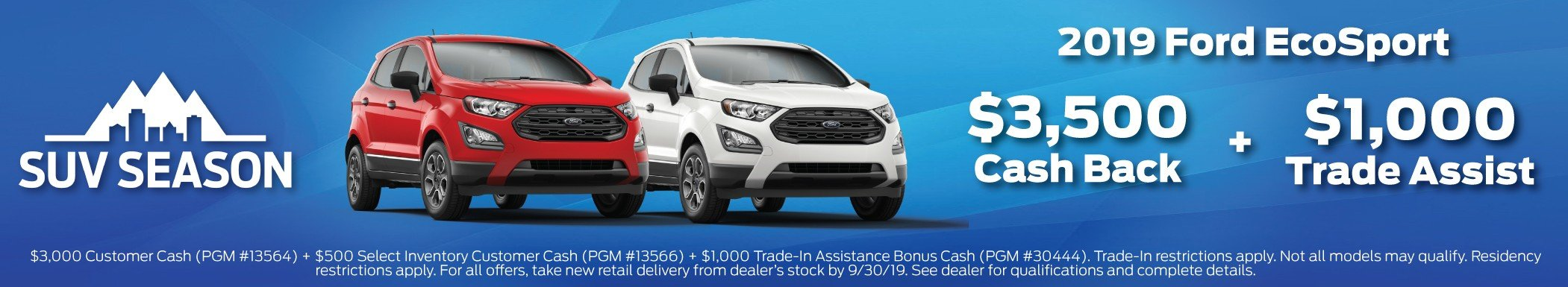 2019 Ford EcoSport Offer 9-30-2019