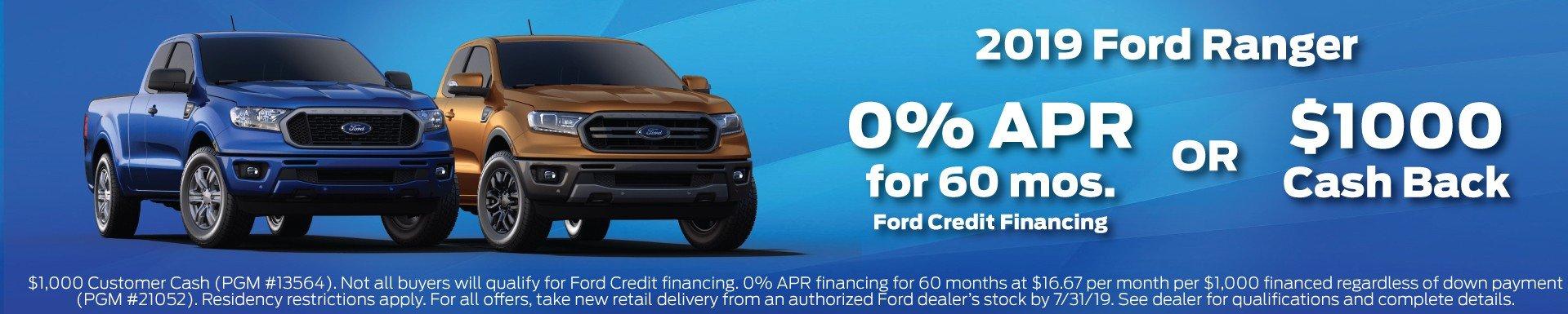 2019 Ford Ranger Offer 7-2019