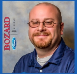 Asst. Service Manager Colby Clarke in Service at Bozard Ford Lincoln