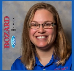 Asst. Service Manager Piper Bueno in Service at Bozard Lincoln