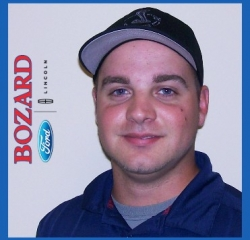 Tint Technician Travis Thornton in Service at Bozard Lincoln