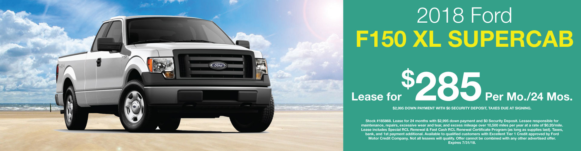 2018 Ford F-150 lease special