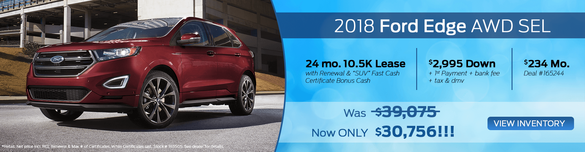 2018 Ford Edge AWD SEL For Sale On Long Island NY