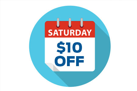 Coupon for Saturday Services Schedule Today And Receive $10 Off