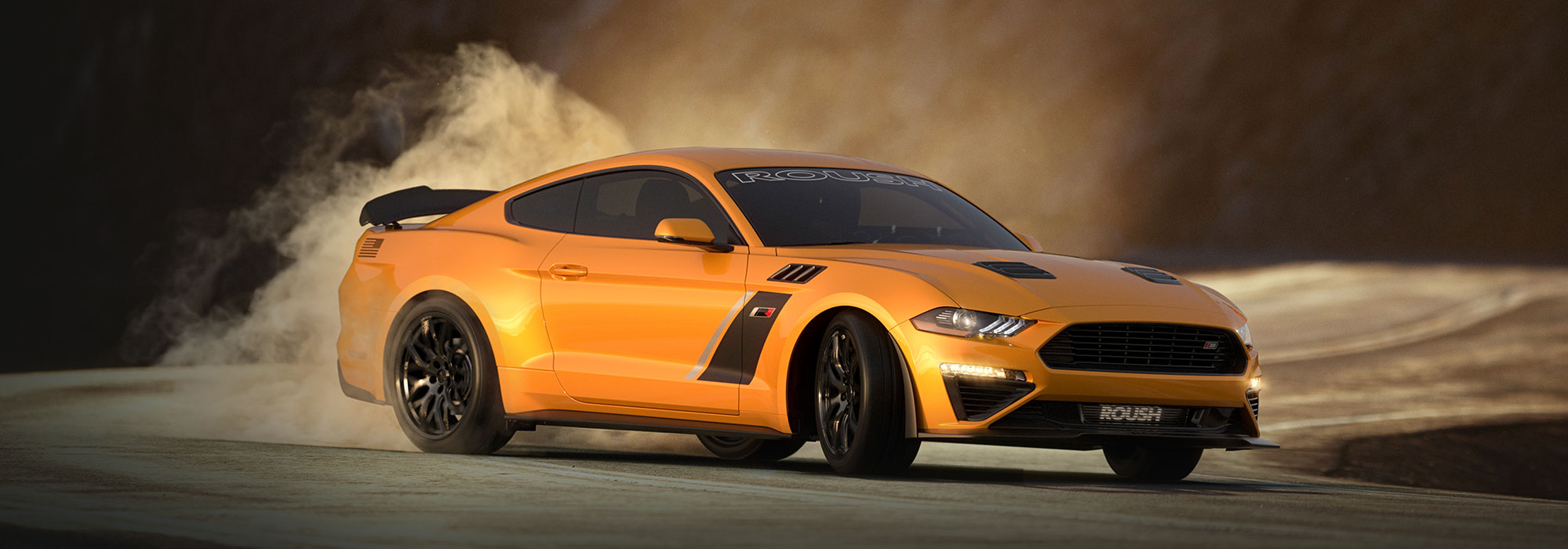 2020 orange ford ROUSH stage 3 mustang on long island