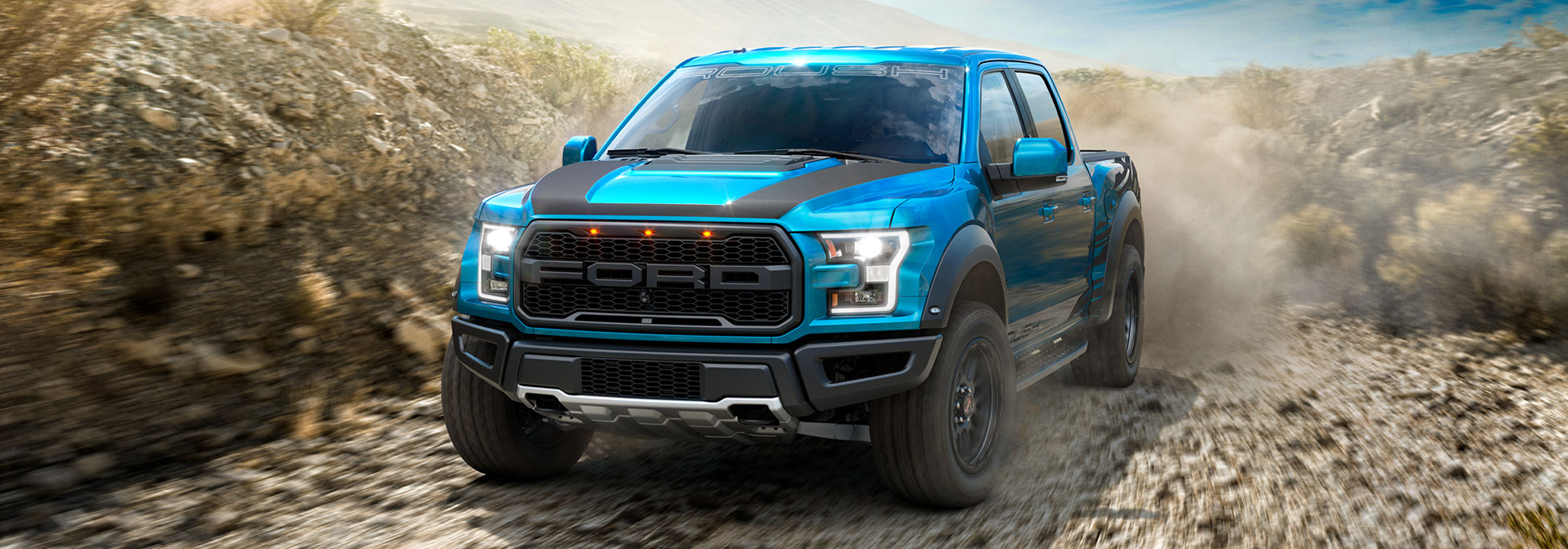 blue ford ROUSH f150 raptor sport truck in sayville ny