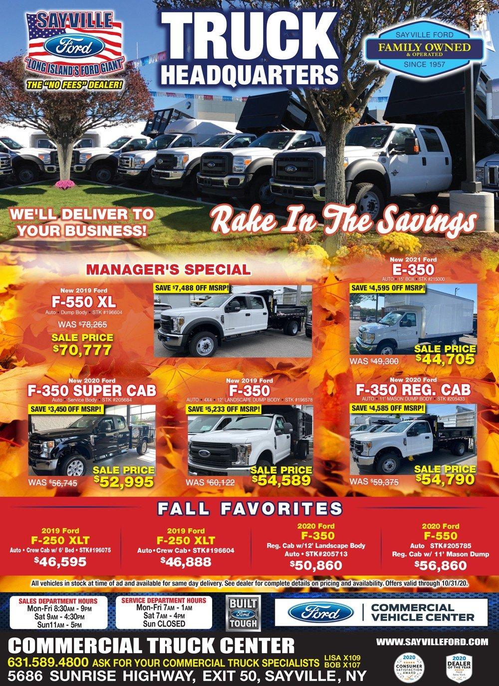 commercial specials