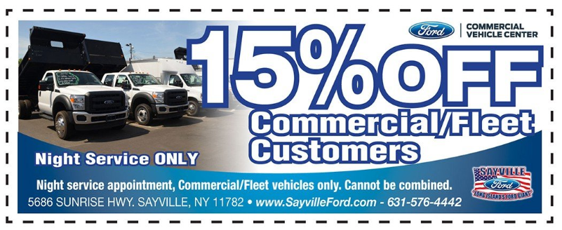 night service commercial fleet coupon sayville ny