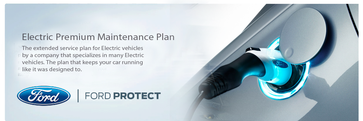 Ford electric premium maintenance plan top banner